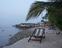 Reflujo del mar en la costa de Asia Fotografía de archivo libre de regalías