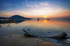 Reflux de coucher du soleil Image stock