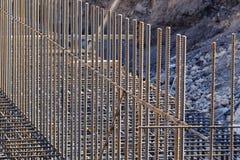 reforço das barras de aço em uma construção Fotografia de Stock Royalty Free