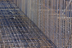 reforço das barras de aço em uma construção Foto de Stock Royalty Free