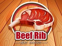 Reforço de carne ilustração stock