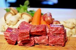Reforços de carne crus Fotografia de Stock Royalty Free
