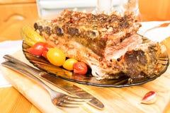 Reforços de carne de porco fotos de stock
