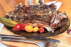 Reforços de carne de porco fotografia de stock