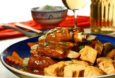 Reforços de carne de porco com tofu Imagem de Stock Royalty Free