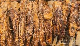 Reforços de carne de porco cozinhados Fotografia de Stock