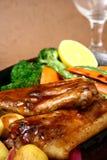 Reforços de carne de porco crepitantes Imagem de Stock