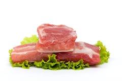 Reforços de carne de porco crus Fotografia de Stock Royalty Free