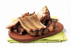 reforços de carne de porco Forno-roasted fotografia de stock