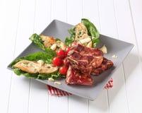 Reforços de carne de porco fumados Foto de Stock