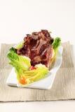 Reforços de carne de porco fumados Foto de Stock Royalty Free