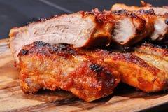 Reforços de carne de porco grelhados Imagens de Stock