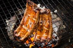 Reforços de carne de porco grelhados fotografia de stock royalty free