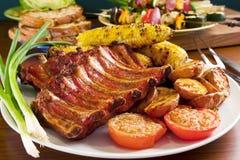 Reforços de carne de porco grelhados Foto de Stock Royalty Free
