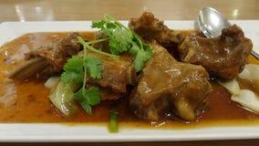 Reforços de carne de porco grelhados com mel Imagem de Stock