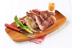 Reforços de carne de porco Roasted Imagens de Stock Royalty Free