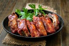 Reforços de carne de porco Roasted fotos de stock royalty free