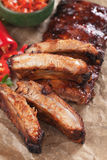 Reforços de carne de porco roasted forno Fotografia de Stock Royalty Free