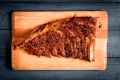 Reforços de carne de porco picantes imagens de stock royalty free