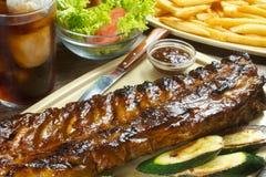 Reforços grelhados BBQ Imagens de Stock Royalty Free