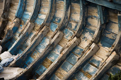 Reforços velhos do barco Foto de Stock