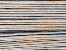 Reforce a textura de aço da haste Imagens de Stock Royalty Free