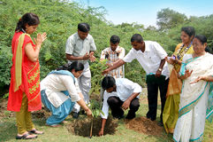 Reforestation. Day celebration in salem at India Royalty Free Stock Images