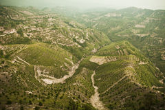 Reforested areas in the mountains, Shanxi Province, China Stock Images