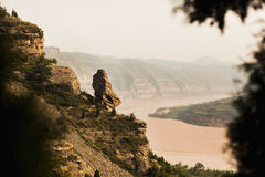 Reforested areas in the mountains, Shanxi Province, China Royalty Free Stock Image