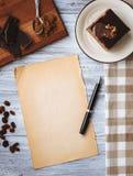 Reform, chocolate cake recipe Stock Photos
