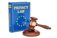 Reform des EU-Datenschutzes ordnet Konzept, Wiedergabe 3D an stock abbildung
