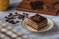 Reforma, bolo de chocolate imagens de stock