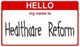 Reforma conhecida dos cuidados médicos Foto de Stock