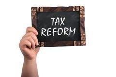 Reforma fiscal no quadro fotografia de stock