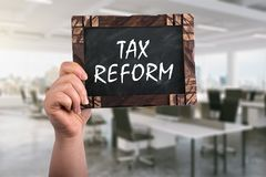 Reforma fiscal no quadro fotografia de stock royalty free