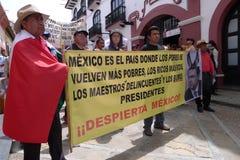 Reforma México de los profesores fotografía de archivo libre de regalías