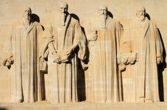 Reformaci ściana w Genewa, Szwajcaria. Obrazy Royalty Free