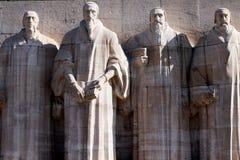 Reformaci ściana w Genewa, Szwajcaria Calvin, protestantyzm Obrazy Royalty Free