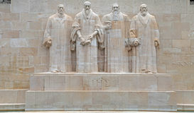 Reformation monument in Geneva, Switzerland. Stock Images