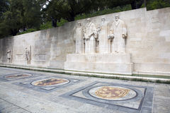 Reformation wall in Geneva Stock Photo