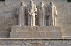 Reformation wall in Geneva Stock Image