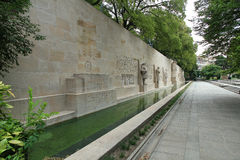 Reformation wall in Geneva. Statues on Reformation wall in Geneva, Switzerland Stock Photography
