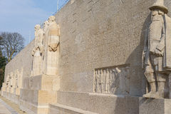 Reformation wall in Geneva. Statues on Reformation wall in Geneva, Switzerland Stock Photos