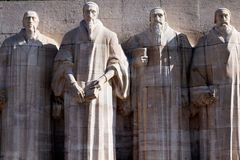 Reformation wall in Geneva, Switzerland. Calvin, Protestantism Royalty Free Stock Images