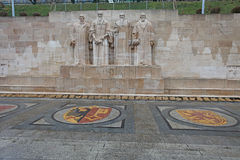 Reformation wall in Geneva, Switzerland. Europe. March 2015 Stock Photos