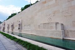 The Reformation Wall in Geneva, Switzerland Stock Images