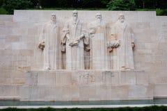 The Reformation Wall in Geneva, Switzerland Stock Photos