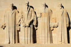 Reformation wall in Geneva, Switzerland. Royalty Free Stock Images