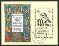 Reformator Martin Luther i inicjały ilustracji