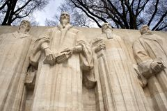 reformatorzy mur genewie Fotografia Royalty Free